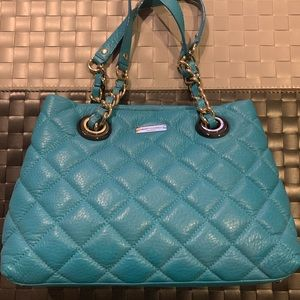 Kate Spade Shoulder Bag in Quilted Leather Teal